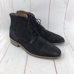 "Topman Black ""Suede"" Boots Size 8"